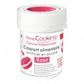 Colorant artificiel en poudre Rose, Scrapcooking