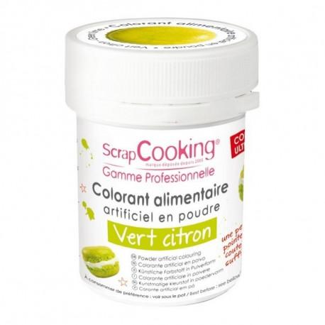 Colorant artificiel en poudre Vert citron, Scrapcooking