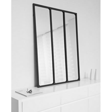 achat vente miroir mural miroir industriel accessoire de. Black Bedroom Furniture Sets. Home Design Ideas