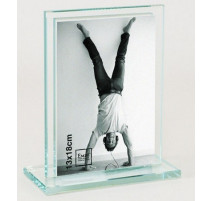 Socle en verre vertical , Emdé
