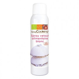 Spray velours alimentaire blanc, Scrapcooking