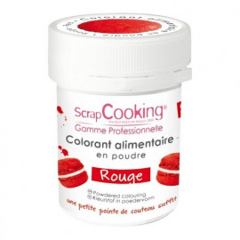Colorant artificiel en poudre Rouge, Scrapcooking
