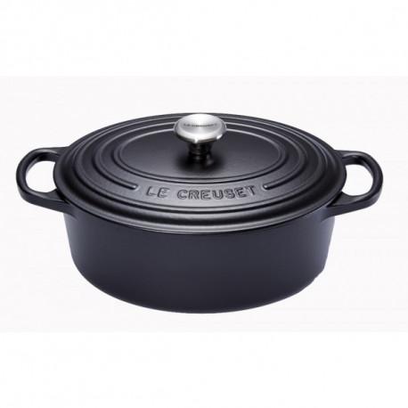 Cocotte ovale noire, Le Creuset