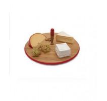 Plateau à fromage rouge bambou ,Zak Design