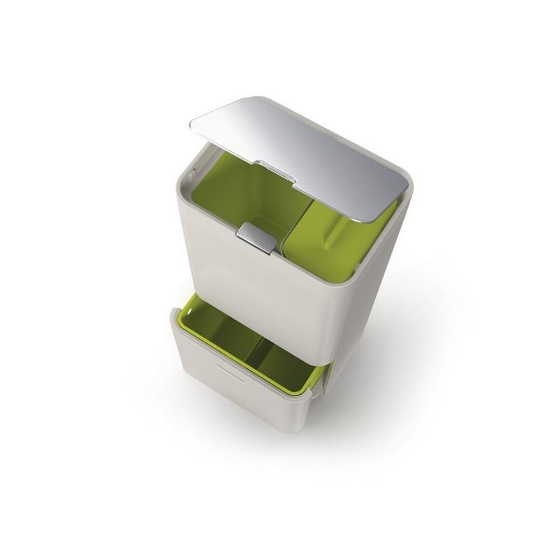 poubelle de tri s lectif totem joseph joseph intelligent. Black Bedroom Furniture Sets. Home Design Ideas