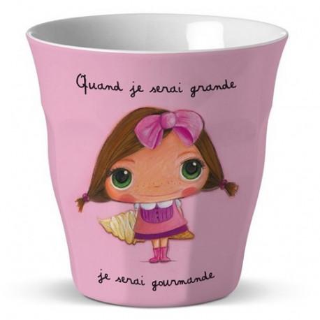 "Verre Quand je serai grande ""Gourmande"", Isabelle Kessedjian"