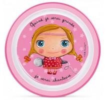 "Assiette Quand je serai grande ""Chanteuse"", Isabelle Kessedjian"
