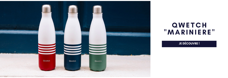 La bouteille Qwetch se pare de belles rayures